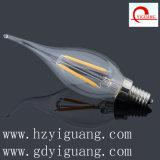 Flame Bent Tip Shape Filament LED Light C35