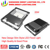 20W New Super Slim Top Quality LED Flood Light with 5 Years Warranty