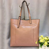 Genuine Leather Shopping High Capacity Handbag Shoulder Tote Bags Emg4575