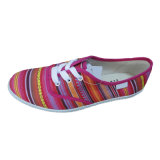 Cheap Rubber Outsole Vulcanized Canvas Shoe for Women Men