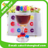 Funny Stylish Rubber Silicone Wine Glass Maker (SLF-WG006)