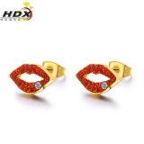 Fashion Jewelry Diamond Stainless Steel 18K Gold Stud Earrings