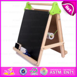 Educational Wooden Table Top Easel for Kids, Table Top Wooden Learning Easel for Children W12b083