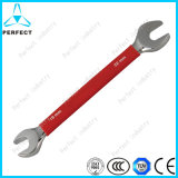 45# Carbon Steel Plastic Coated Handle Double Open End Wrench