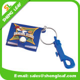 Hot Sell Soft Rubber PVC Key Chain with Mini Notebook