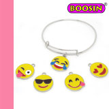 2016 Wholesale Expandable Copper Wire Bracelet Emoji Bangle