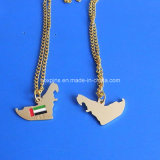 UAE Map Gold Necklace for UAE Nationald Day Gifts