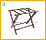 New Arrival Rubber Wood Luggage Rack for Hotel