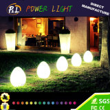 PE Material Rotational Moulding Plastic LED Egg Lamp LED Decoration