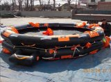 50 Man Throw Over Type Open Inflatable Life Raft