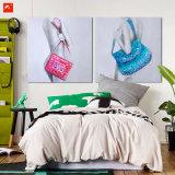 Modern Nude Woman with Handbag Canvas Prints