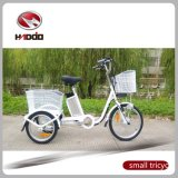 24 Inch Lithium Battery Electric Tricycle with Rear Basket