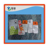 Plastic Clothing Hangtag with Gloss Oil on Surface