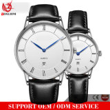 Yxl-019 2016 Fashion Leather Bezel Band Quartz Dw Wrist Man Watch with Single Date