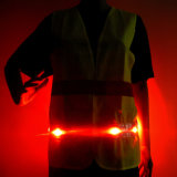 Battery Powered Safety Warning LED High Visibility Reflective Vest