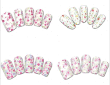 Fashion Colorful Flower Temporary Water Transfer Nail Sticker