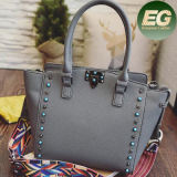 New Products 2017 Synthetic Leather Handbag Studded Ladies Bags Sy7955