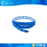 One Time Use 13.56MHz RFID NFC PVC Ntag213 Wristband