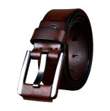Full Grain Leather Fashionable Pin Buckle Belt