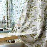 Pretty Design Green Leaf Jacquard Blackout Window Curtain (06F0030)