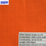 Cotton 10*10 76*50 343GSM Fireproof Flame-Retardant and Anti-Static Fabric for Protective Clothes PPE