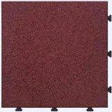 European Standard Rubber Tile Interlocking Non Slip Flooring Tile for Garden / Exterior