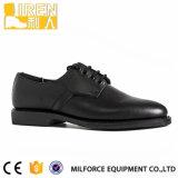 2017 Fashion Black Men′s Police Uniform Shoes