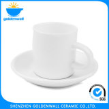 120ml White Coffee Ceramic Cup and Saucer