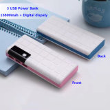 3 USB Portable 10000mAh Mobile Power Bank with LED Lighting