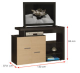 Modern MFC Laminated Wooden Cabinet TV Stands (HX-DR097)