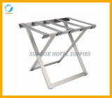 Luxury Stainless Steel Luggage Rack with Chrome Finish