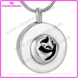Ijd9634 Round 316L Stainless Steel Cremation Jewelry Ashes Keepsake Memory Holder Cat Remembrance Pendant Necklace