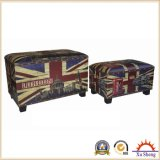 Accent Upholstery Rectangular London PU Print Storage Trunk