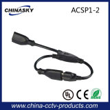 2 Way Us Power Cord Splitters with UL Approval (ACSP1-2)