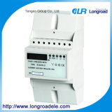 DIN Rail Mounting Three Phase Electronic Kwh Meter