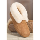Comfort Sheepskin Lady Casual Shoes in Chestnut