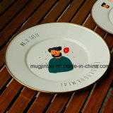 Roung Plate/ Enamel Pizza Plate/Kitchenware Cookware Enamelware/Butter Plate Vegetable Dish