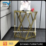 Restaurant Furniture Stainless Steel Marble Top End Table
