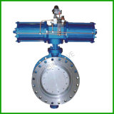 Gear Worm/Pneumatic/ Three Offset/Butterfly Valve