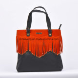 2017 Fashionable Designer Leather Tassel Bag Tote Bag Ladies Handbag
