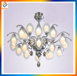 LED Hotel Lobby Large Modern Crystal Chandelier with Glass