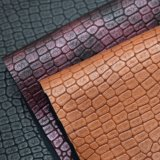 Crocodile Skin Pattern PU Leather, Textured Synthetic Bag Leather