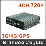 4CH 720p Car DVR, 128GB SD Memory, 4 Alarm Input, for Bus and Taxi Used