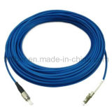 Armored OS1 Singlemode Fiber Optic Patch Cord