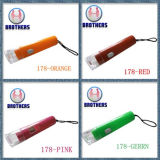Plastic Button Cell LED Flashlight (178)