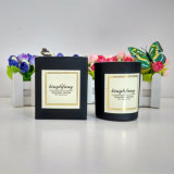 Black Glass Jar Candle with Customized Logo