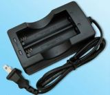 North American Standard Cabled Charger for 2 PCS 18650 Batteries