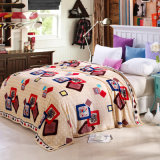 Hot Sale Super Soft Printed Flannel Blanket Coral Fleece Blanket (SR-B170318-2)
