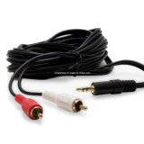 3.5mm Audio to 2 RCA Audio Video Cable Cable