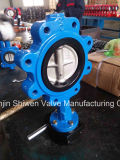 Ductile Iron Lug Type Butterfly Valve with Gear Actuator
